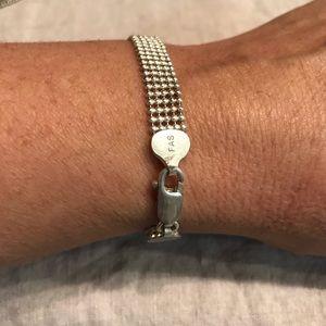 """Italian sterling silver bracelet 7.5"""" chain link"""